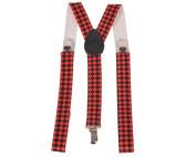 Dress Up America 601-W Wide Diamond Checkerboard Suspenders