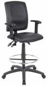 Boss B1646 Multi-Function Leatherplus Drafting Stool With Adjustable Arms