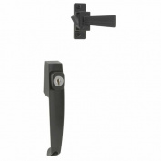 Hampton Products International Black Push Button Key Latch VK333XBL