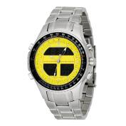 Men 's Digital Alarm Chronograph World Time Yellow Dial - Watch