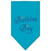 Mirage Pet Products 67-11 SMTQ Birthday Boy Rhinestone Bandana Turquoise Small