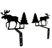 Village Wrought Iron CUR-S-22 Moose & Pine Swags