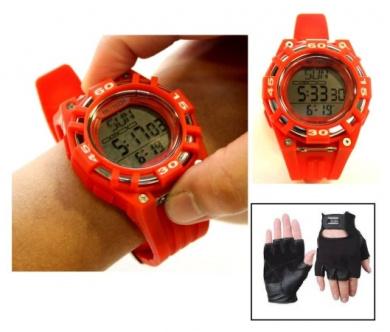 Beatech Beatech BH5000R L01MLK Beatech Heart Rate Monitor Watch and Leather Glove Set