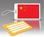 Insight Design 770536 TagCrazy Luggage Tags- China Flag- Set of Three