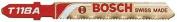 Bosch Power Tools 114-T118A 7.6cm 24Tpi Hss Jig Saw Blade W-Bosch Sha