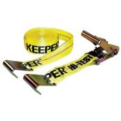 Keeper Flat Hook Ratchet Tie Down Yellow 27 Feet - 04623