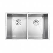 Ruvati RVH7350 Undermount 16 Gauge 76.2cm . Kitchen Sink Double Bowl