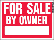 """Hy-Ko Prod RS-605 Sign, """"For Sale By Owner"""", Red & White Plastic, 46cm x 60cm ."""