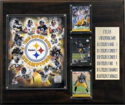 C & I Collectables 1215PITT6X NFL Steelers 6 Time Super Bowl Champions Plaque