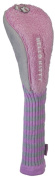 Williams Sports Holdings HC-HKG.MM.FWY.G-P Hello Kitty Golf Mix & Match Fairway Grey- Pink Headcover