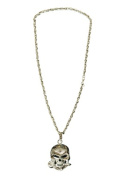 Sunnywood 3705S Silver Novelty Skull Necklace