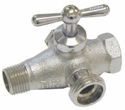 B And K Industries In-Line Bypass Reversible Brass Washing Machine Valve 102-205