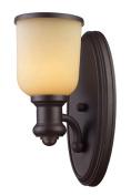 Landmark Lighting 66170-1 Brooksdale 1-Light Sconce in Oiled Bronze