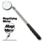 Ullman Devices ULLHTC-2LM X-Long 2-.63.5cm Dia Magnifying Inspection Mirror