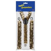Beistle 60812-GD Sequined Suspenders - Gold