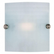 Access Lighting 62054-BS-CKF Radon 8 1 Light Chequered Frosted Glass Wall Fixture - Brushed Steel