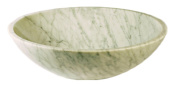 Novatto NOSV-CW NOSV-CW White Carerra Marble Natural Stone Vessel Sink White with Grey Veining 17-Inch Diameter