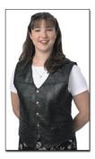 BNF GFVMED Black Patched Leather Vest-Medium