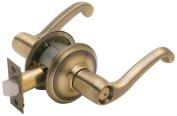 Schlage F40VFLA609 Antique Brass Flair Lever Privacy Set