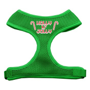 Mirage Pet Products 70-14 XLEG Holly N Jolly Screen Print Soft Mesh Harness Emerald Green Extra Large