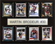C & I Collectables 1215BRODEUR8C NHL Martin Brodeur New Jersey Devils 8 Card Plaque