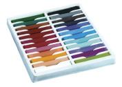 Chenillekraft 24-colour Square Artist Pastels Set - 6.4cm X 1cm Crayon Size - Assorted Wax - 24 / Set