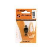 Fix-A-Zipper 3051-7 ZlideOn Zipper Pull Replacements Metal 5-Old Brass