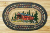 Capitol Importing 65-304CB Covered Bridge - 20 in. x 30 in. Oval Patch