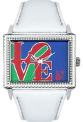 Arjang & Co PS-5004S-WH A Special Stamp for Someone Special East West White Strap