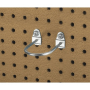 Triton Products 76325 2.88 In. L 1.75 In. I.D. Zinc Plated Steel Double Mount U Shape Pegboard Hook for DuraBoard 5 Pack