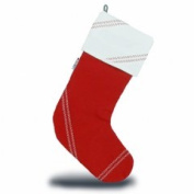 Sailorsbag Sailcloth Christmas Eve Decorative Hanging Stocking Red with White Trim