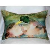 Betsy Drake HJ242 Mallards Art Only Pillow 15x22