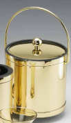 Kraftware 76078 Mylar Polished Brass Deluxe Wine Chiller with Bands