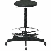 Office Star Stool with Adjustable Footrest, Black