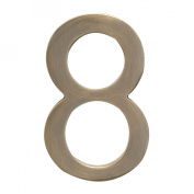 Architectural Mailboxes 3582AB-8 Solid Cast Brass 4 inch Floating House Number Antique Brass 8