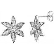 Doma Jewellery DJS02118 Sterling Silver (Rhodium Plated) Earring with CZ