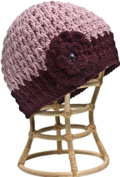 Nirvanna Designs CH75 Purple Crochet Flower Hat