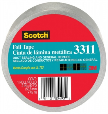 3m 5.1cm . X 50 Yards Scotch Aluminium Foil Tape 3311-50A