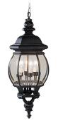Livex 7705-04 Frontenac Exterior Lantern- Black