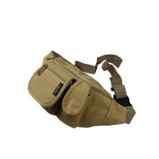 Blancho Bedding HJ185-KHAKI Portable Canvas Casual Multi-Purposes Fanny Pack / Back Pack / Travel Lumbar Pack