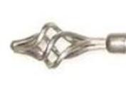 Achim Rdmlxs2806 - Metallo Rod And Finial Set - Lexus - Silver - 28-48 Inches