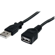 3 ft Black USB 2.0 Extension Cable A to A - M/F
