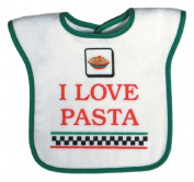 Dee Givens & Co-Raindrops 6973 I Love Pasta Medium Bib - Green