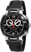 Tissot T0484172705700 Mens T-Race Analog Chronograph Black Dial Strap