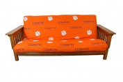 College Covers CLEFC Clemson Futon Cover- Full Size fits 8 and 10 inch mats