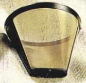 Medelco GF214 #4 Cone-Style Permanent Coffee filter -8 to 12 cup capacity