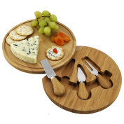 Picnic at Ascot CB12 Feta Cheese Board Set - Round - Bamboo