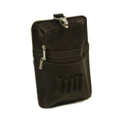 Piel Leather 2873-CHC All In One Golf Pouch - Chocolate