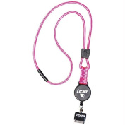 Icat 11029CP-C103 Reel Neck It Lanyard With Retractable Reel Leash - Pink and White