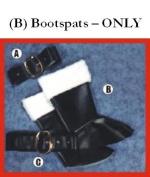 Alexanders Costumes 22-007 Bootspats- Santa